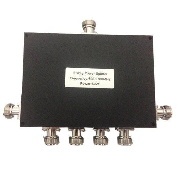 698-2700MHz 50W N 6 Way Power Splitter